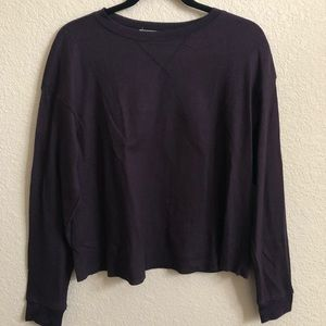 Oversized waffle purple long sleeve
